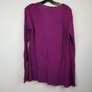 lucy Tops - Lucy purple exercise long sleeve cowl neck top